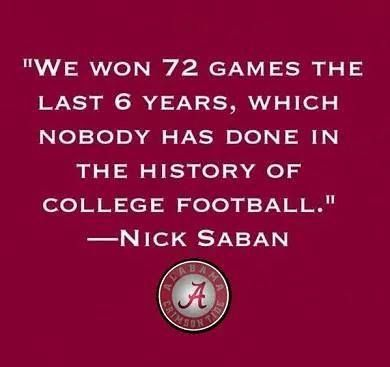 So many wins, so much Tide Pride! ~ Check this out too ~ RollTideWarEagle.com sports stories that inform and entertain and Train Deck to learn the rules of the game you love. #Collegefootball Let us know what you think. #Alabama #Bama