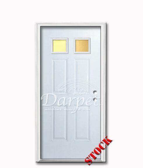2 Lite Steel Exterior Door 6-8 | Darpet Interior Doors for Chicago Builders