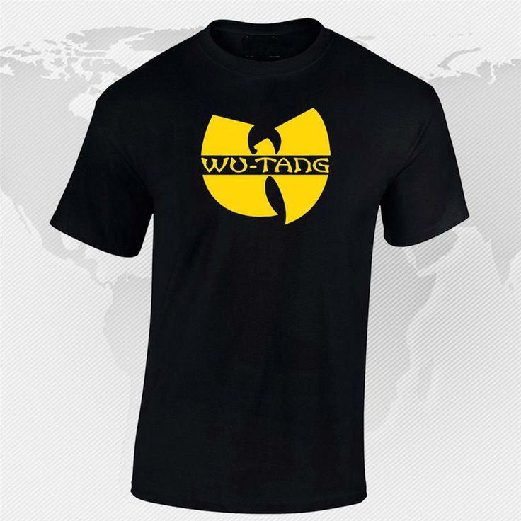 New Print Letter T-Shirt Men&Women Wu Tang Clan Casual Tees