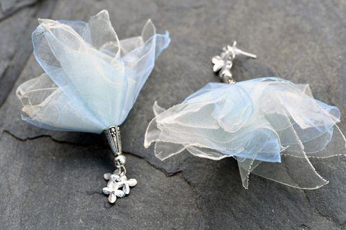 Náušnice modro-bílé