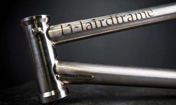 A $2,000 Titanium BMX Frame by Laird Frame   Details: http://bmxunion.com/daily/a-2000-titanium-frame-by-laird-frame/  #BMX #frame #bike #bicycle #titanium #weld #welding #style #design
