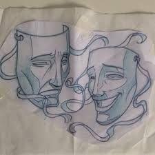 Resultado de imagem para tattoo mascaras teatro