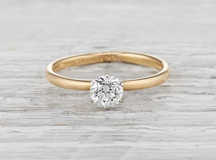 .47 Carat Edwardian Vintage Engagement Ring || Erstwhile
