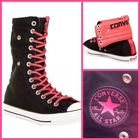 Womens Converse Neon Pink High Top Athletic Shoes