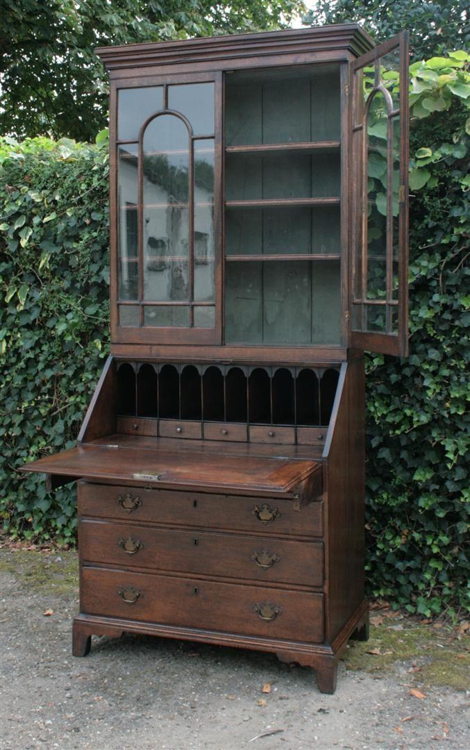 Antiek Bureau Bookcase | Eiken | Engeland | ± 1800 ( 18e / 19e eeuw )