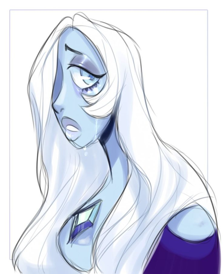 "Blue Diamond  ""What's the use of feeling blue?"" Speedpaint here!: youtu.be/iJiAhDI5k7Y"