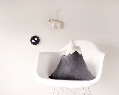 DIY Gift Series: Mountain Pillow From Design Sponge