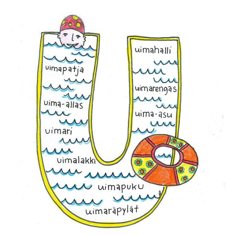 U-kirjain Värinauttien aakkosissa