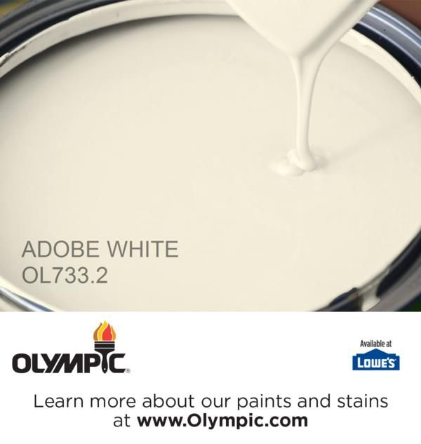 ADOBE WHITE OL733.2 is a part of the off-whites collection by Olympic® Paint.