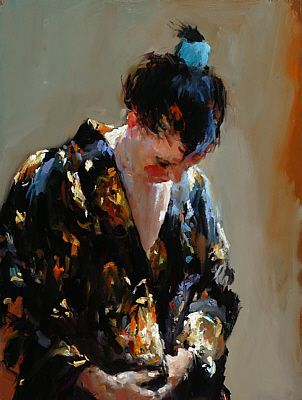 Dinie Boogaert, Devotion III, canvas 2006, 40x30cm
