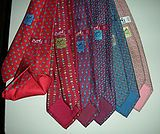 Hermès Silk ties for Men introduced in 1949, a huge array of motifs over the years from bunnies to confetti, have been made from the same silk material as the scarves and are, likewise, very expensive.