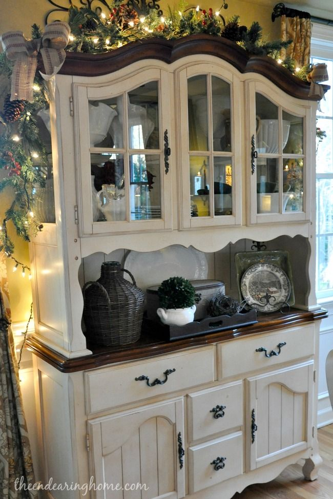 17 best ideas about china cabinet painted on pinterest for Hutch decor