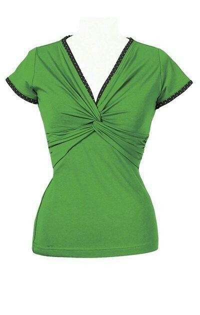Ecouture Twist t-shirt grøn