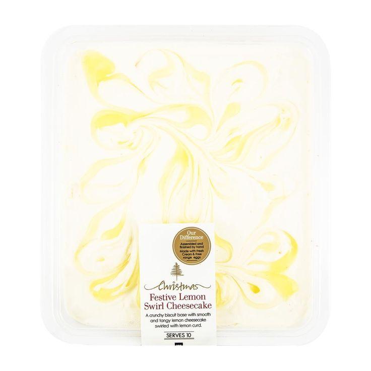 Festive Lemon Swirl Cheesecake 950g