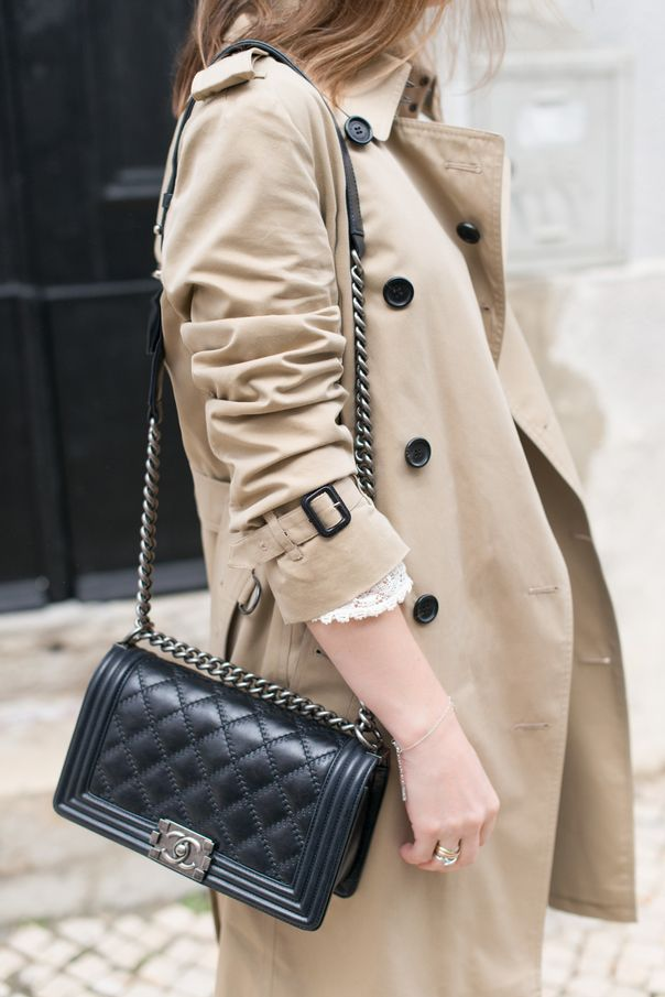 Trench Coat & Chanel