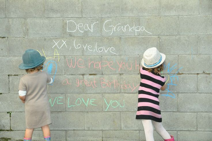 Grandfather gift from little girls