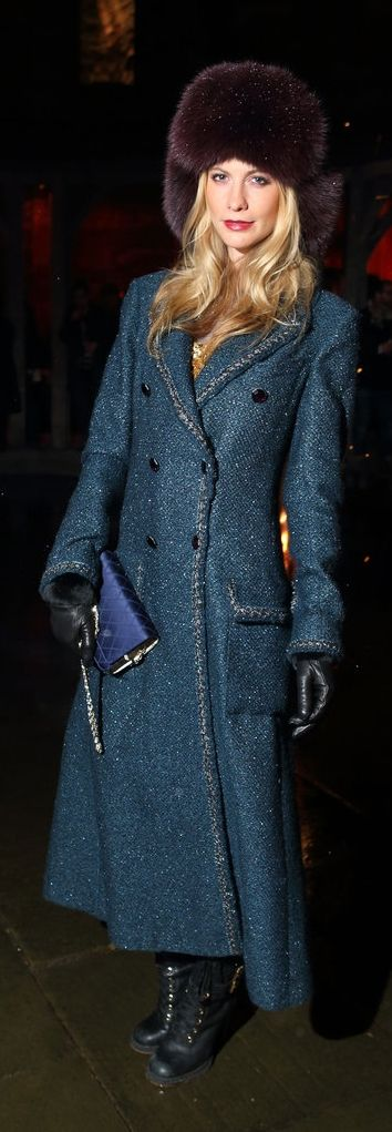 Poppy Delevingne is the epitome of sophisticated Winter style