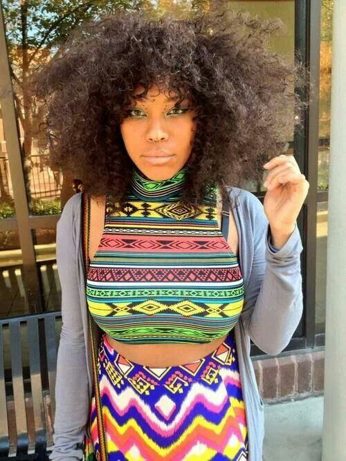 Afro punk-crazy cool pattern shirt, afro hair , african prints