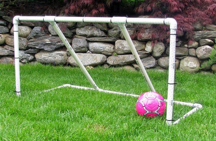 Детские футбольные ворота из ПВХ труб
