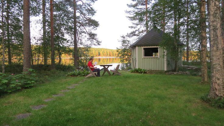 July 2013. It is 22 o'clock. I love finnish summer nights! Reading.