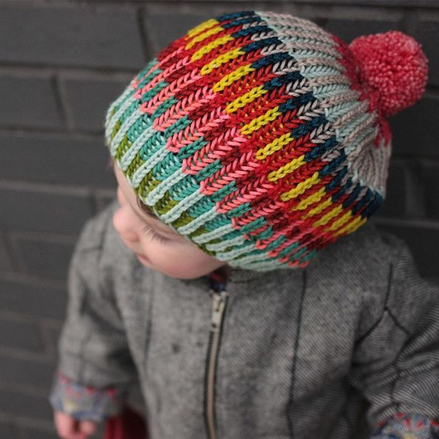 I love how brioche blends colors!  Pattern: Syncopation Adoration by westknits, yarn is rainbowheirloom Sweater.