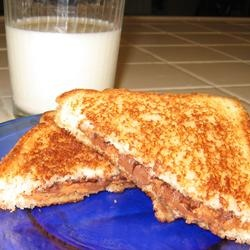 Peanut Butter Cup Grilled Sandwich Allrecipes.com