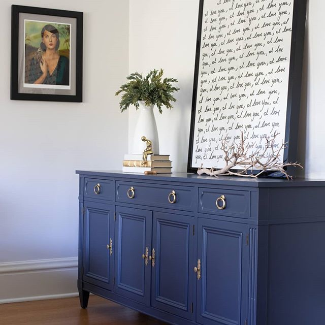 Blue Painted Furniture Refinishing, Blue Painted Furniture Photos