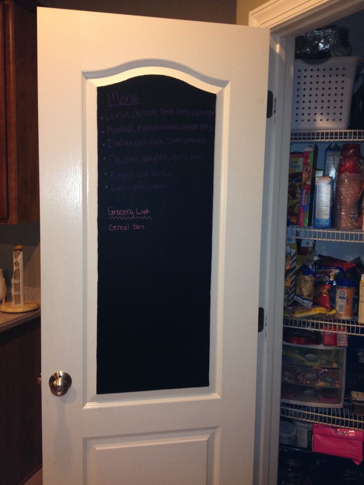 Simplify organize keep your menus for the week and your for 18 x 80 pantry door