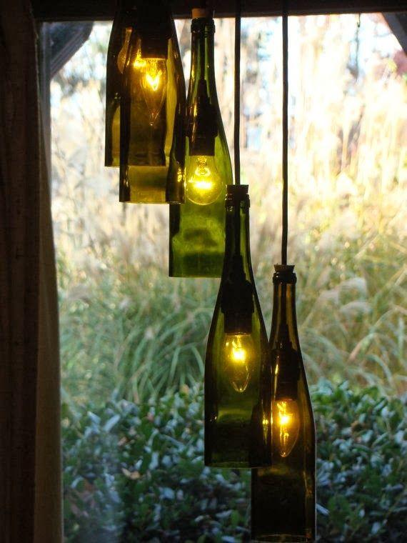 17 mejores ideas sobre l mpara en frasco en pinterest - Como hacer lamparas con botellas de vidrio ...