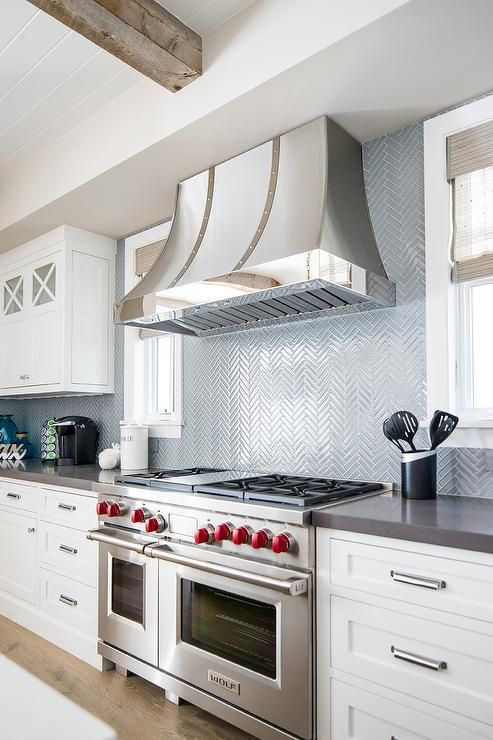 Blue cooktop tiles