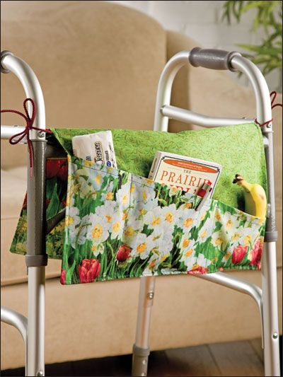 Reversible Walker Bag  cute idea that some of the ladies could make and give to the residents of nursing homes