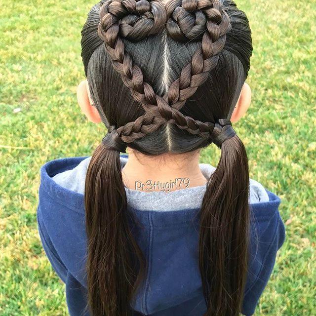 "✨""Live with gratitude and celebrate all that is good today, and everyday.""✨ . Intertwined heart style pigtails  . Wishing you all a a lovely weekend!  . #pr3ttyhairstyles #pr3ttyheartstyles #LoveInTheHairContest #tangledandtrue #braidsforlittlegirls #braidstyles #pigtailbraids #abc7eyewitness #sweetheartshairdesign #cghphotofeature #lalasundaypost #braidideas #cutegirlshairstyles #hairstyle #hairideas #hairinspo #modernsalon #peinado #penteado #pigtails #peinadosparaniñas #trenzado #trenz..."