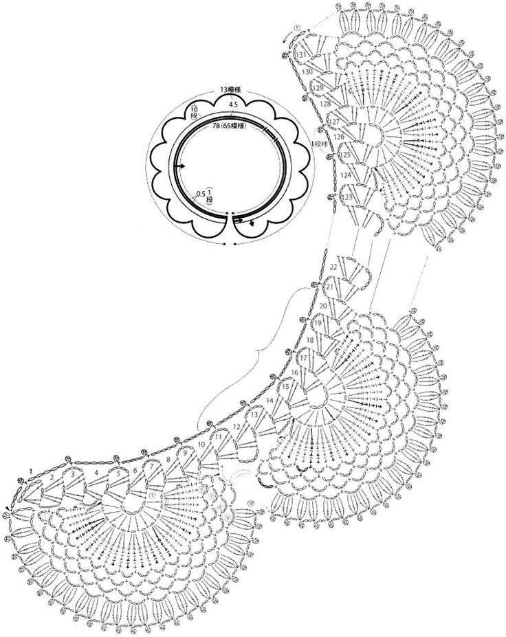 17 best images about  u2022 u2022crochet  u2022 accessories  lace collars u2022 u2022 on pinterest