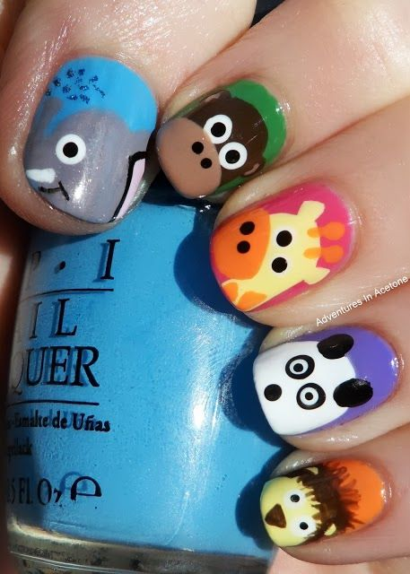 Adventures In Acetone: Tutorial Tuesday: Elephant Nail Art!