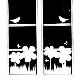 Ines Felix - Kreatives zum Nachmachen: Fenster-Blumen-Deko so einfach