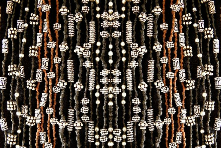 silver beads on waxed cotton necklaces