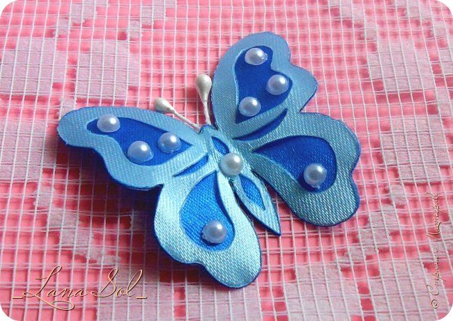 бабочка из атласных лент своими руками пошаговая инструкция