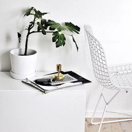 bertoia chair, iittala nappula brass