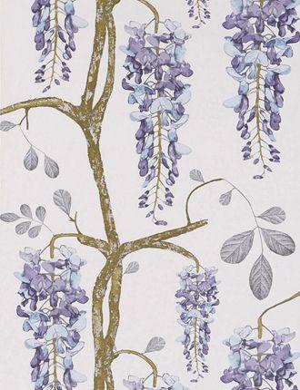 wisteria wallpaper bathroom - photo #21
