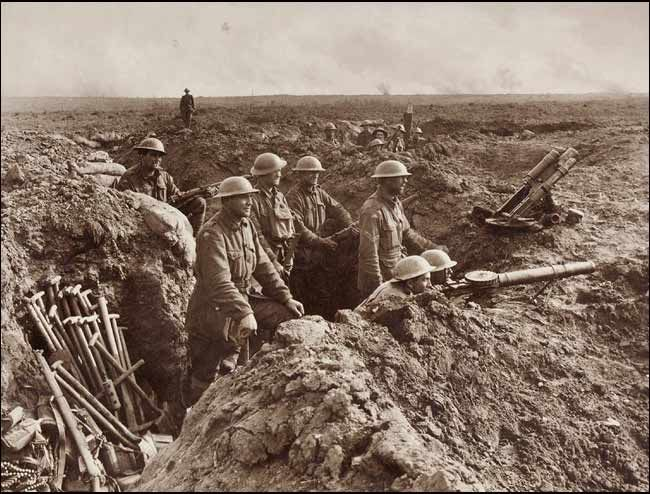 Scene in the trenches, Frank Hurley.