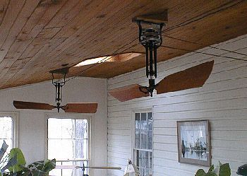 Fan, belt-driven, wooden, blade, mahogany, cedar -- Woolen                                                                                                                                                                                 More