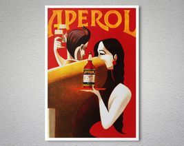 Aperol Liqueur Food Drink Poster - Poster Paper, Sticker or Canvas Print  For Bulk Orders (minimum order 30 items) please contact us.  WORLDWIDE SHIPPING!  GICLEE printed on high quality paper, cotton canvas or adhesive sticker paper. A high qu...