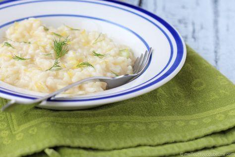 Une belle recette où le fenouil apporte au risotto une belle fraîcheur et une touche de croquant, le tout rehaussé par le zeste et le jus de citron.