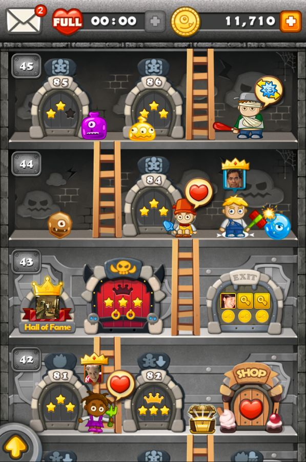 Monster Busters is a match-3 puzzler that challenges players to work their way through stages of increasing difficulty in order to save Gingerbreads from the grasps of cartoonish monsters. Matching three or more monsters makes them disappear, and larger matching combinations result in more powerful monster-busting effects. Good game to practice executive function skills of planning and self-awareness.