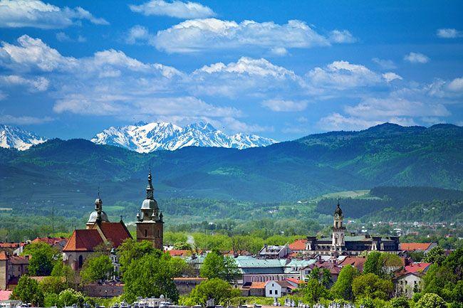Nowy Sącz, Poland  - W  dali Góry Tatry