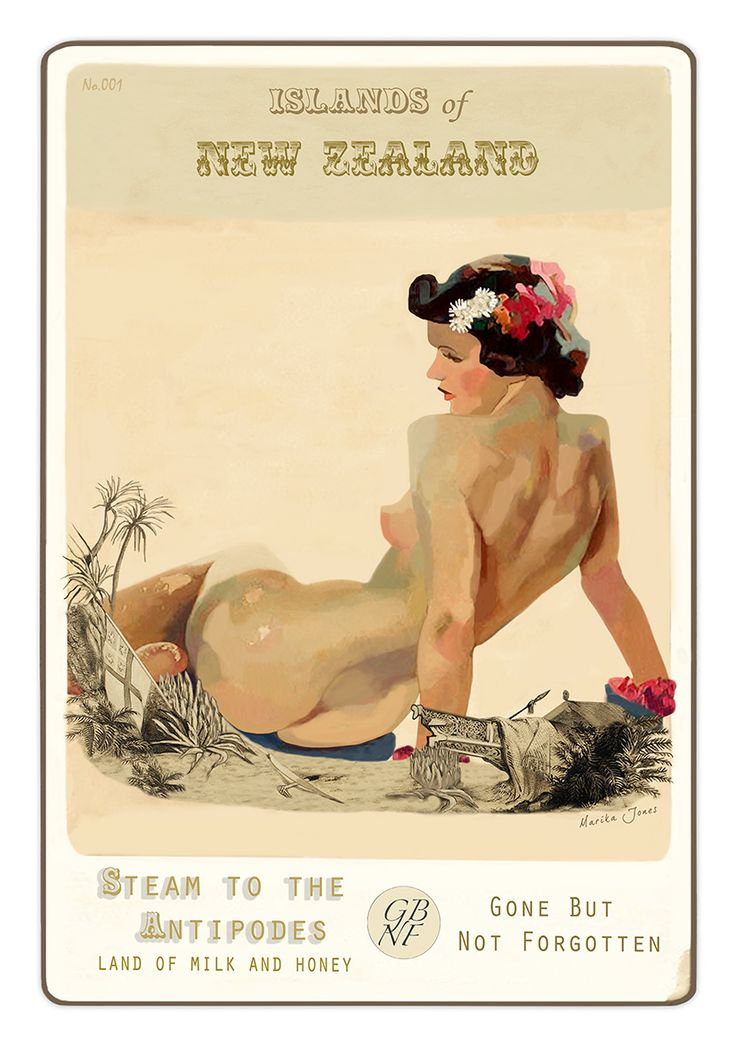 Steam to the Antipodes - Land of Milk and Honey. Art-prints and cards available from www.imagevault.co.nz