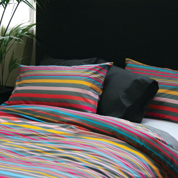Seneca Ibiza Stripe Duvet Cover Set King Only - view full collection - duvet covers - queenb