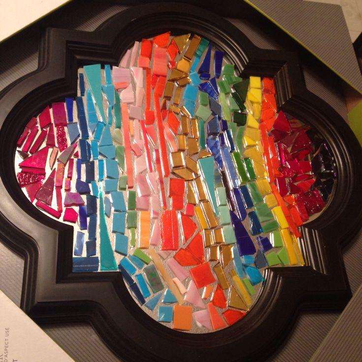 Glass on glass mosaic.