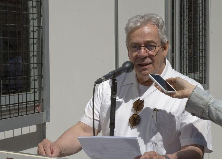 14/06/15. EL MICRO DE LA FERIA: Gonzalo Celorio, escritor. Foto © Jorge Aparicio/ FLM15