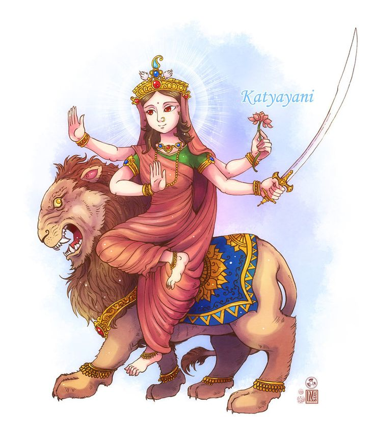 Katyayani mata by In-Sine on DeviantArt
